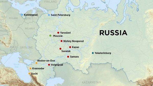 В каких городах будет проходить чемпионат мира по футболу 2018